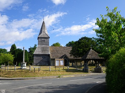 Church Building in Newdiate Surrey